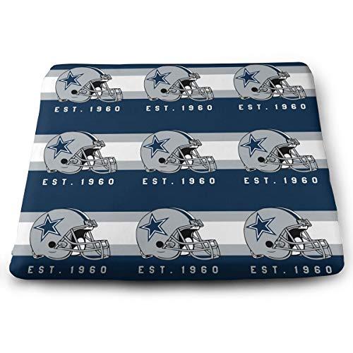 Dallas Cowboys Stools Bar - Jacoci Custom Dallas Cowboys Memory Foam Squared Seat Cushion for Office Chair Pad Size 15x14 Inches