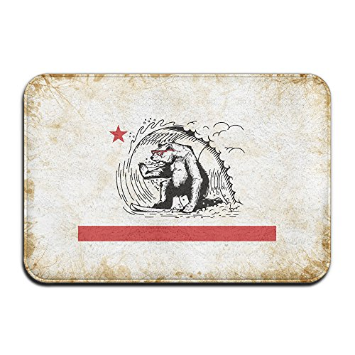 JF Home JFD California Bear Surfing Republic Non-Skid Door Mat 60x40cm