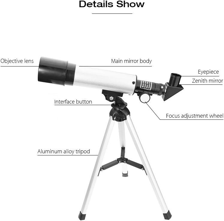 Lente Telescopio astronomico telescopio rifrattore per principianti e bambini portatile Viaggi Telescopio con Treppiede