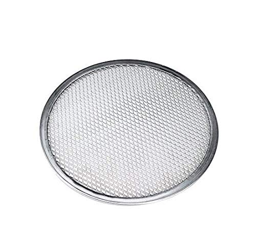 1 Pack Pizza Screen Aluminum Pizza Pan Round Chef's Baking Screen Seamless-Rim Commercial Grade, Microwave Crispers (14inch)