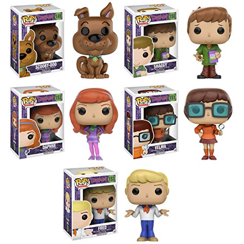 Pop!: Scooby Doo Fred, Daphne, Velma, Shaggy, and Scooby Vinyl Figures! Set of 5 ()