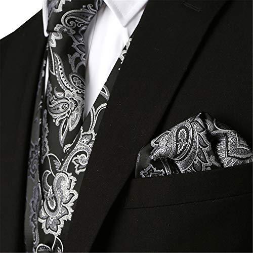 Black Parti Marié Convient Les De Mariage Costume Hommes Cravate Gilet Poche Place Le Pour Pragmaticv 3pcs gRZqfAgB