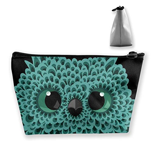 - Makeup Bag Cosmetic Blue Owl Portable Bag Mobile Trapezoidal Storage Bag Travel Bags With Zipper
