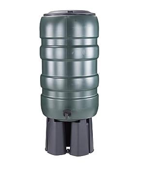 Whitefurze - Barril de Lluvia, Color Verde, 150 litros
