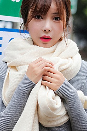 - Generic {_Punch_volume_offer_feedback]_Korean_style_of couple's_high-gloss_version_of knitting_ shawls scarves scarf _solid_color_ Scarf shawl _men women).