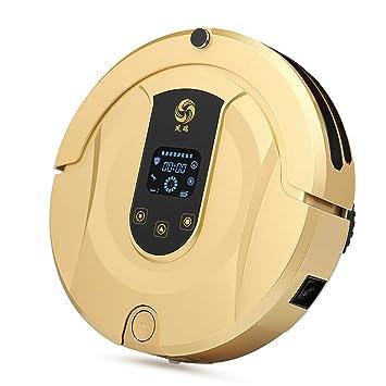 E-KIA Aspirador Robot Aspirador Sin Cable, Control EléCtrico (3 Velocidades Opcionales) Y DiseñO Delgado para Pisos Duros Y Alfombras,Gold: Amazon.es: ...