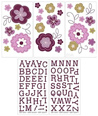 NoJo Wall Decals, Pretty In Purple from NoJo