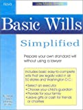 Basic Wills Simplified, Daniel Sitarz, 0935755896