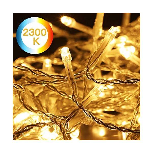 Avoalre Catena Luminosa 500 LED 100M Stringa Luci Natale 8 Modalità Interno/Esterno Impermeabile LED Luci Decorative per Atmosfera Romantica Camera Festa Nozze Compleanno Natale, Bianco Caldo 5 spesavip