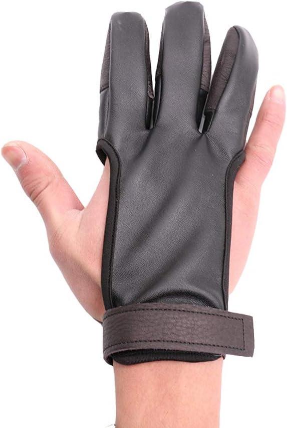 BaronHong Archery Shooting Gloves DREI-Finger-Schutzhandschuhe f/ür die Jagd auf Recurve-B/ögen