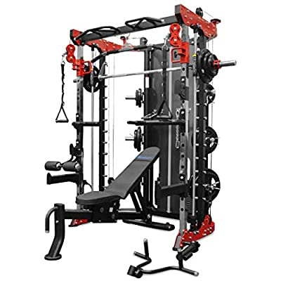 Reeplex Functional Trainer Smith Machine Squat Rack 264 lbs Steel Weight Stack & Adjustable Bench
