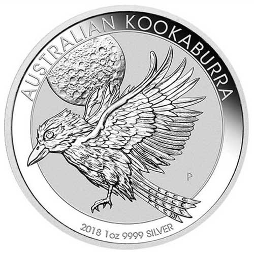 - 2018 AU Kookaburra One Ounce Silver Coin Dollar Uncircualted Mint