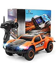 E T Remote Control Car, RC 4WD High Speed Short Course with 2.4Ghz Remote Controller for Toddlers Kids Racing Together