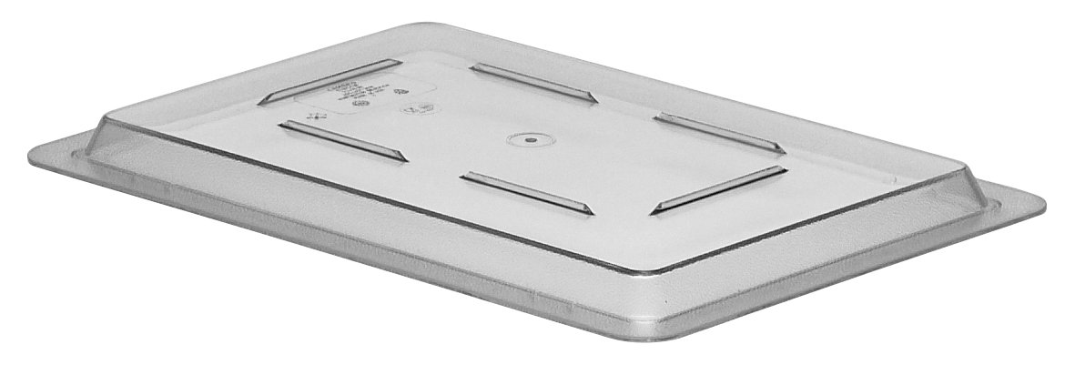 Cambro (1218CCW135) Camwear Food Storage Box Flat Lid (12-Inch x 18-Inch, Polycarbonate, Clear)