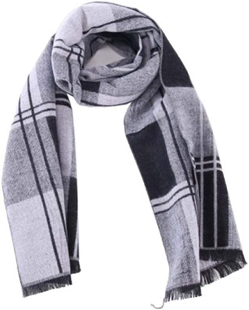 TaLcvzi scarf Men Fashion Scarf Winter Autumn Casual Long Striped Scarf Warm Soft Winter Scarf