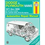 Dodge and Plymouth Vans (1971-96) Automotive Repair Manual
