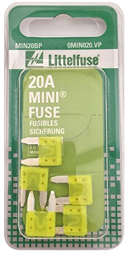Fuses Ford Expedition - Littelfuse MIN20BP MINI 297 Series Fast-Acting Automotive Blade Fuse - Pack of 5