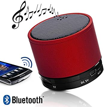 Seluxion-Altavoz Mini Bluetooth Speaker/MP3, color rojo para ...