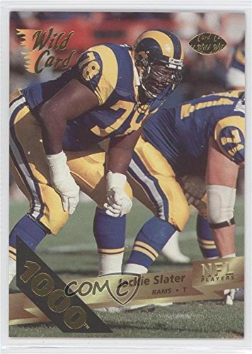 Jackie Slater Card (Jackie Slater (Football Card) 1993 Wild Card - [Base] - 1000 Stripe #160)