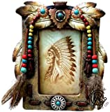 Colors of Rainbow Southwestern Native American Stone Arrow Head Turquoise Feathers Picture Photo Frame 4 x 6 Rustic Hand Painted Decoration Review