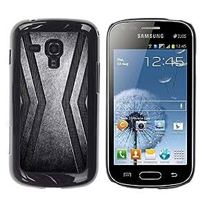 TECHCASE**Cubierta de la caja de protección la piel dura para el ** Samsung Galaxy S Duos S7562 ** Stainless Steel