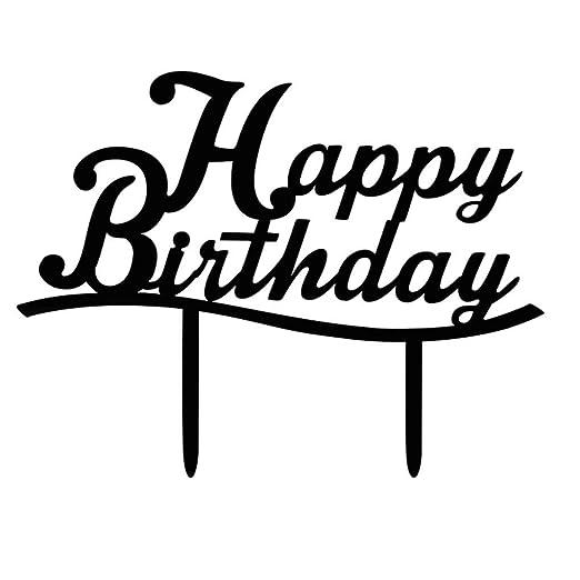 Rekkles Acrílico Torta del Feliz cumpleaños Cupcake Stand ...