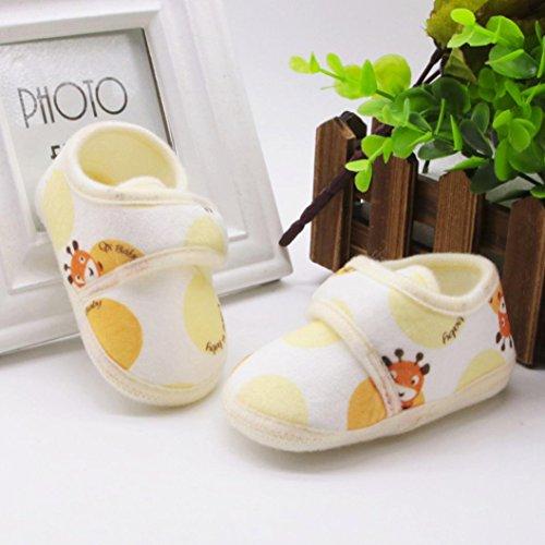 Huhu833 Kinder Mode Junge Mädchen Schuhe weiche Sohle Krippe Kleinkind Neugeborene Schuhe Gelb