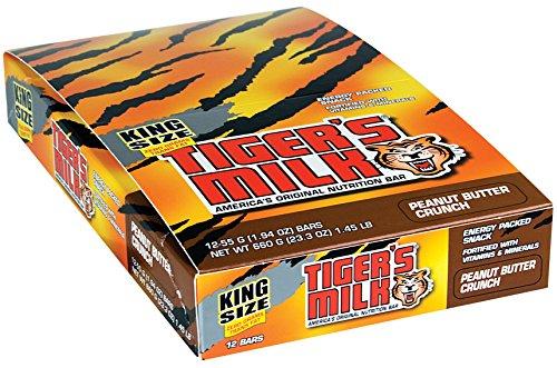 TIGER'S MILK Peanut Butter Crunch Nutrition Bars - Energy...