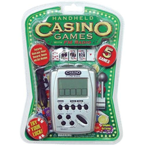 Casino 5 Games Hand Held Electronic Game with FM Radio by Pocket Arcade B01M6CZR78