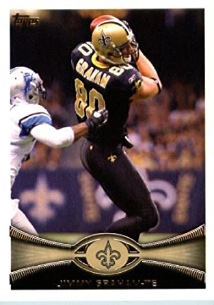 9480a809a Amazon.com  2012 Topps Football Card  280 Jimmy Graham - New Orleans Saints  (NFL Trading Card)  Collectibles   Fine Art