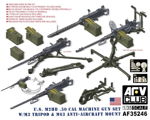 (AFV Club U.S. M2HB.50 Cal Machine Gun Set AF35246)