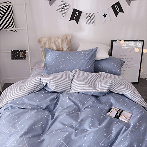 VM VOUGEMARKET 3 Piece Duvet Cover Sets Queen,100% Cotton Co