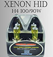 H4 9003/HB2 High Low Beam Xenon HID Yellow Direct Replacement Light Bulbs