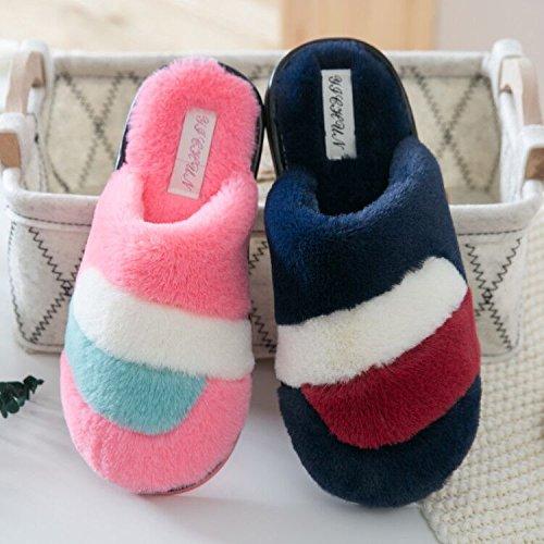 CWAIXXZZ pantofole morbide Home Inverno pantofole di cotone le coppie di uomini e donne indoor velluto di antiscivolo morbido e caldo cotone pantofole ,40-41 38/39, adatto per indossare il rosso e il