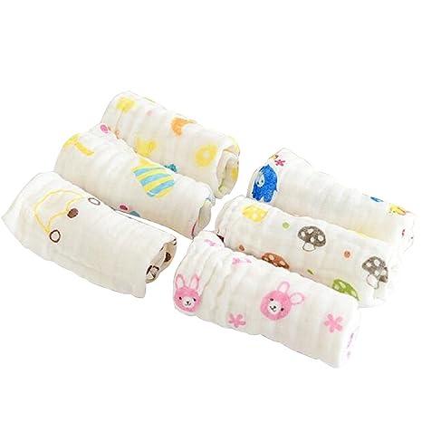 6pcs Muselinas Mantas de Muselina de Algodón Paños de Muselina para Bebés Recién Nacidos Facial Toallitas