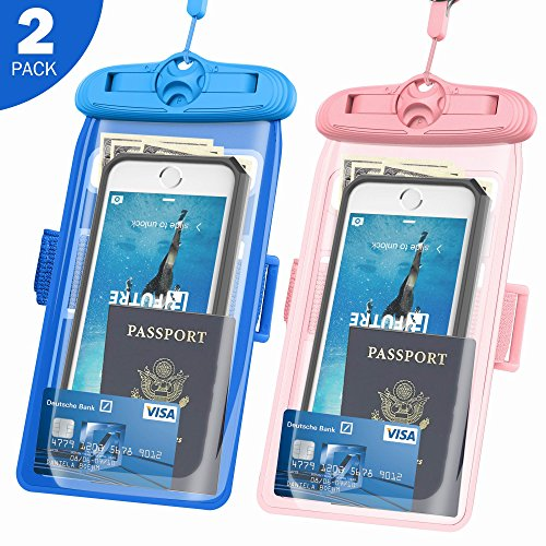 Underwater Case, FUTRE CellPhone Dry Bag Pouch Adjustable Armband for Apple iPhone 6S 6 SE 5S Samsung Galaxy S7 S6 Note 5 4 HTC LG Sony Nokia Motorola up to 6.3