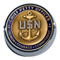 MotorDog69 Goldwing Coin Mount With Navy Chief Petty Officer by MotorDog69