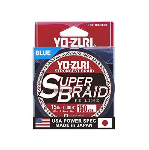 Yo-Zuri Superbraid 150 yd Floating Braid, Blue, 15 lb