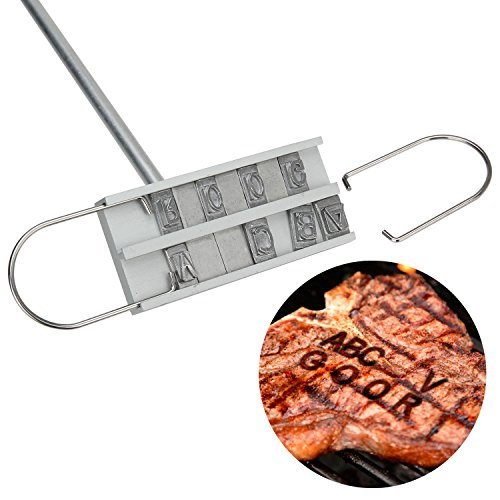 Isuda bbq branding iron set with changeable letters for Bbq branding iron with changeable letters