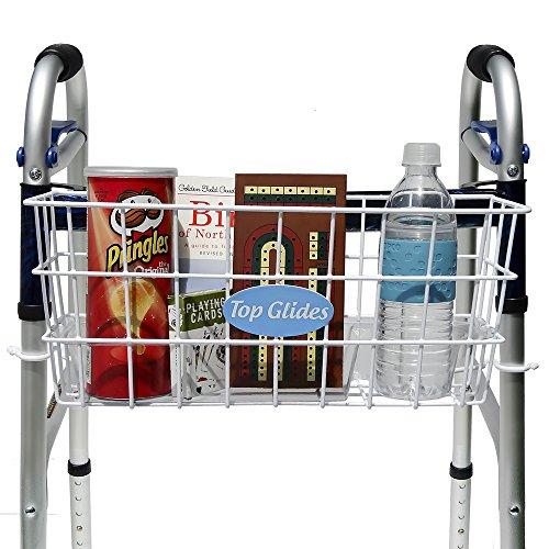 Walker Basket - BUNDLE: Premium Clip-on Walker Basket with FREE Carry-All Hooks ($8 value)