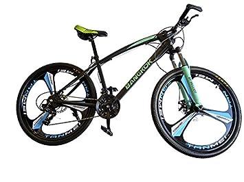 Helliot Bikes by Bangkok Crazy Creativity Bicicleta de Montaña, Adultos Unisex, Verde/Azul