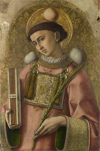 Oil Painting 'Carlo Crivelli Saint Stephen ' Printing On Perfect Effect Canvas , 30 X 45 Inch / 76 X 115 Cm ,the Best Nursery Artwork And Home Decoration And Gifts Is This Amazing Art Decorative Prints On Canvas