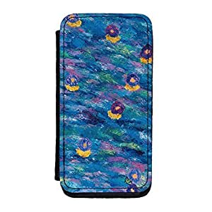 Abstract Pattern Painting 010 Premium Faux PU Leather Case, Protective Hard Cover Flip Case for iPhone 5C by Helen Joynson