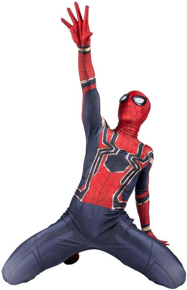 Avengers Infinity War Iron Spiderman Cosplay Costume Party Dress Up Halloween UK