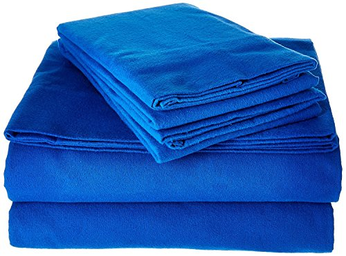 Goza Cotton 190 Gram Heavyweight Flannel Sheet Set (Queen, Classic Blue) by Goza Cotton