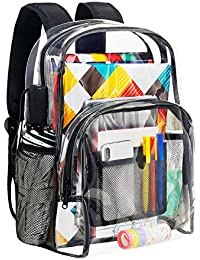Clear Backpack Heavy Duty PVC Transparent School Backpack