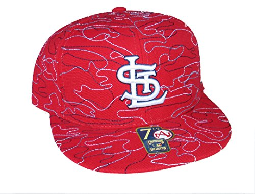 American Needle St. Louis Cardinals Strings Fitted Size 7 1/2 Cooperstown Collection Hat Cap - Red