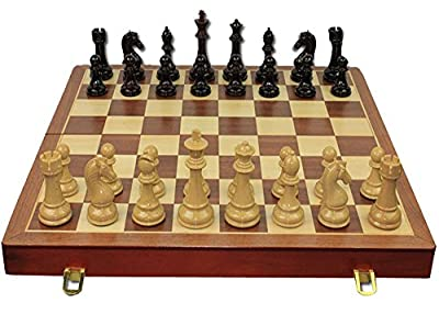 """WGW Standard Wooden Chess Board Wood Chess Game Set High-end Chess 21""""X21"""""""