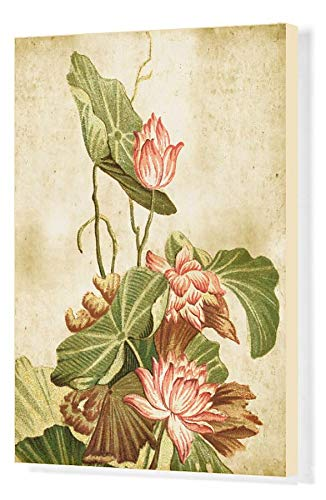 Media Storehouse 20x16 Canvas Print of Old Dirty Chinese Wallpaper ()