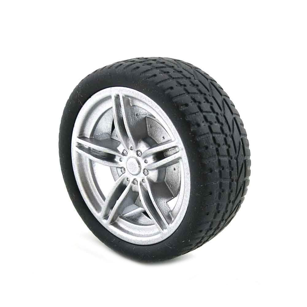 YJZ 4PCS 40/48mm Simulation Wheel Tyre Black Rubber Tires for 1/10 RC Racing Climbing Car Accessories